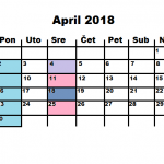 Najava programa za APRIL 2018