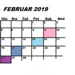 Najava programa za FEBRUAR 2019